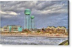 Good Morning Topsail Island Acrylic Print by Betsy Knapp