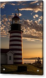 Good Morning West Quoddy Head Lighthouse Acrylic Print by Marty Saccone