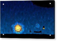 Good Night Sun Acrylic Print by Gianfranco Weiss
