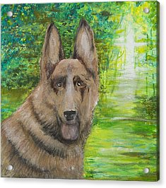 Acrylic Print featuring the painting Good Old Shep by Cathy Long