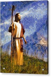Good Shepherd Acrylic Print by Christian Art