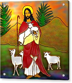 Good Shepherd Acrylic Print by Latha Gokuldas Panicker