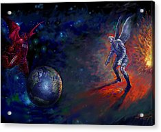 Good Vs Evil Acrylic Print by Ylli Haruni
