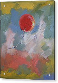 Goodbye Red Balloon Acrylic Print by Michael Creese