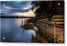 Goodnight Canoes Acrylic Print by Clay Townsend