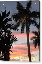 Goodnight Waterside  Acrylic Print by K Simmons Luna