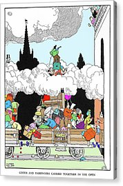 Goods And Passengers Carried Together By W. Heath Robinson Acrylic Print by Adam Hart-davis/science Photo Library