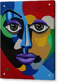 Google Me - Abstract Art Painting - Colorful Abstract Face - Ai P. Nilson Acrylic Print