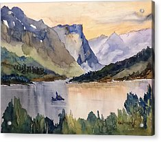 Goose Island Glacier National  Park Acrylic Print
