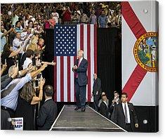 Gop Presidential Nominee Donald Trump Holds Rally In Jacksonville, Florida Acrylic Print by Mark Wallheiser