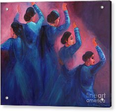 Gopis Dancing In The Dusk Acrylic Print