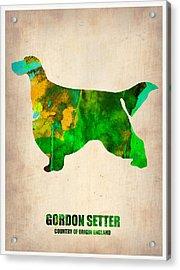 Gordon Setter Poster 2 Acrylic Print by Naxart Studio