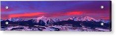 Gore Range Pano Acrylic Print by Darren  White