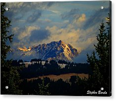 Gore Range Sunrise Acrylic Print by Stephen Barela