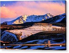 Gore Range Sunset Acrylic Print by John McArthur