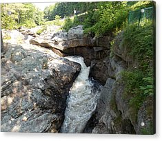 Gorge In Paris Maine Acrylic Print by Catherine Gagne