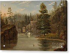 Gorge Of The St Croix Acrylic Print by Henry Lewis