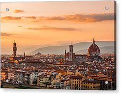 Gorgeous Florence City Acrylic Print