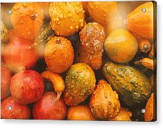 Acrylic Print featuring the photograph Gorgeous Gourds by Ira Shander