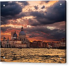 Gorgeous Sunset Over Grand Canal In Venice Acrylic Print
