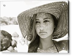 Gorgeous Young Woman Acrylic Print by Kicka Witte