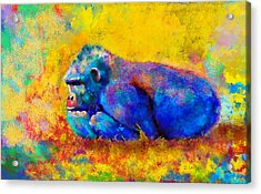 Acrylic Print featuring the painting Gorilla by Sean McDunn