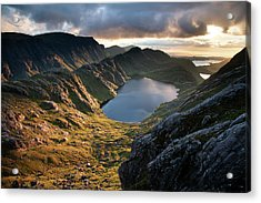 Gorm Loch Mor And Fionn Loch Beyond Acrylic Print by Feargus Cooney