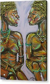 Acrylic Print featuring the painting Gossip by Lucy Matta