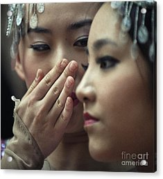 Acrylic Print featuring the photograph Gossip by Michel Verhoef