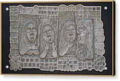 Gossip Mongers Acrylic Print