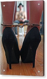 Acrylic Print featuring the pyrography Got Cuffs by Shoal Hollingsworth