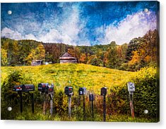 Got Mail? Acrylic Print by Debra and Dave Vanderlaan