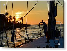 Acrylic Print featuring the photograph Got Wind Goes Home by Pamela Blizzard