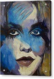 Goth Girl Acrylic Print by Michael Creese