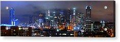 Gotham City - Los Angeles Skyline Downtown At Night Acrylic Print by Jon Holiday