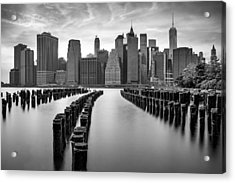 Gotham City New York City Acrylic Print by Susan Candelario