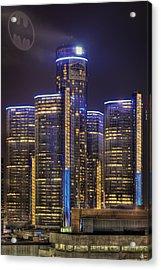 Gotham Detroit Acrylic Print