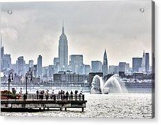 Gotham Harbor Acrylic Print by Nishanth Gopinathan