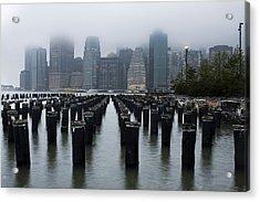 Gotham Mist Acrylic Print by Michael Murphy