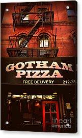 Gotham Pizza Acrylic Print