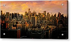 Acrylic Print featuring the photograph Gotham Sunset by Chris Lord