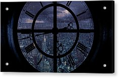 Gotham Viewed From Above Acrylic Print by Jackson Carvalho