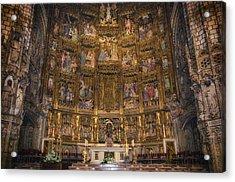 Gothic Altar Screen Acrylic Print by Joan Carroll