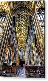 Gothic Architecture Acrylic Print by Adrian Evans