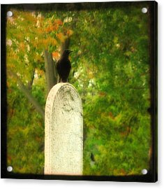 Gothic Autumn Acrylic Print by Gothicrow Images