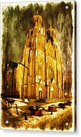 Gothic Cathedral Acrylic Print by Jaroslaw Grudzinski