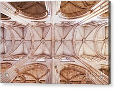Gothic Ceiling Of The Batalha Monastery Church Acrylic Print by Jose Elias - Sofia Pereira