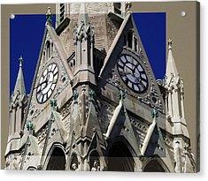 Gothic Church Clock Tower Spire Acrylic Print