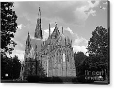 Acrylic Print featuring the photograph Gothic Church In Black And White by John Telfer