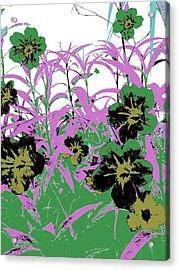 Gothic Garden Green Acrylic Print